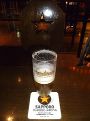 sapporo and a star (citizensunshine) Tags: cup beer glass japan star sapporo hokkaido jp mug pint coaster beergarten sapporobrewingcompany