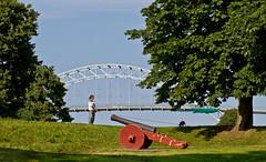 Peacetime (iharsten) Tags: ramparts peacetime gun bridge fortifiedtown oldtown gamlebyen fredrikstad norway july 2016