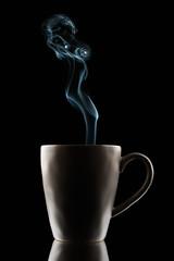 Project 366 - 223/366: Hot beverage (sdejongh) Tags: 223366 366 backlight beverage cloud coffee composition contrast cup drink fume hot light lowkey project reflection split stilllife tea thrirst vapor