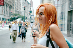 Anastasia - EX (SLMEDIAOFFICIAL) Tags: canon 70d redhead girl portrait street new york city nyc backpack