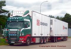 Scania R560 BCU774 DB Schenker roadtrain (sms88aec) Tags: scania r560 bcu774 db schenker roadtrain