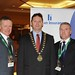 Showtel Eamonn Doherty & Liam Conlon, Brennan Insurances with Stephen McNally, IHF President