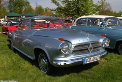 Silver beauty (The Rubberbandman) Tags: white classic beauty car sedan vintage silver germany nice bright parking lot german dome vehicle oldtimer isabella saloon coupe coup borgward cloppenburg