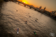 Don't look back (Umbreen Hafeez) Tags: life street city uk bridge light sunset england people london tower station st thames backlight canon river europe cityscape cathedral pauls canoe canoes gb backlit bt canoeist backlighting
