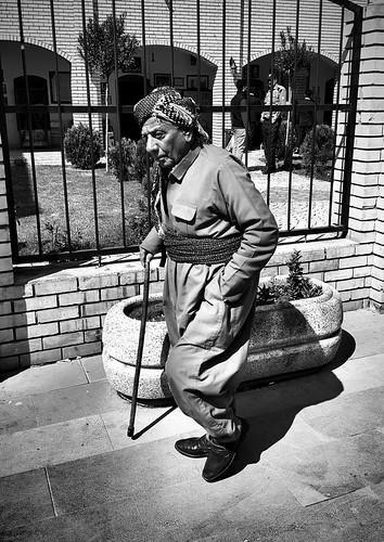 Old man walking... Erbil. Northern Iraq...