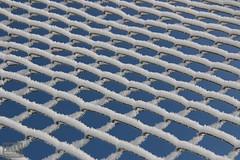 Frost on a chain link fence #3 (Ray Whitby Photography) Tags: ice fence frost bluesky chainlinkfence kazakhstan tenniscourt astana 2015 nazarbayevuniversity