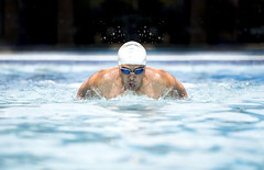 Swimmer (Bugphai ;-)) Tags: blue male men water pool face sport race speed swim butterfly outdoors person one glasses athletic goal healthy energy power adult exercise action head muscular air goggles young fast lifestyle competition stroke front line professional indoors cap swimmer pro strong leisure effort strength athlete fitness breathing wellness caucasian competitive vitality