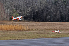 RDRC Flying - Formation Take-Off (John. Romero) Tags: radio plane canon airplane photography fly flying photo airport durham control aircraft aviation air flight raleigh hobby planes remote tamron runway rc flyin rdrc