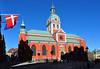 Sankt Jakobs kyrka, Stockholm (Sweden) (Bochum1805) Tags: church koppar koppartak puts sanktjakobskyrka röd kyrkotorn kyrktorn urtavla klocka spira sandstensportal portal