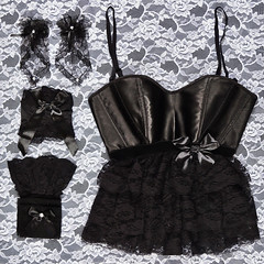 Black Lingerie kit (highrisempire) Tags: fashion quality romance romantic giftset classy girlsnight blackdress womans datenight blackstockings nicegift descrete adultclothing blackbracelet hashtag blackbows blackcrotchlesspanties romanticlingerie qualitygitset handcraftedjewelryhandcraftedjewelry adultaccessories highriseempire blacklingeriekit girfriendpresent