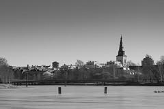 Karlstad (Ryuu Tora) Tags: tower church canon river blackwhite cathedral sweden watertower churchtower lv karlstad klarlven torn sverige kyrka domkyrka vrmland vattentorn ef24105mmf4lisusm 60d kyrktorn karlstadsdomkyrka ryuutora karlstadscathedral
