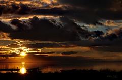 coucher de soleil sur tang (lucajulo) Tags: sunset sea orange soleil pentax coucher hdr etang lucajulo