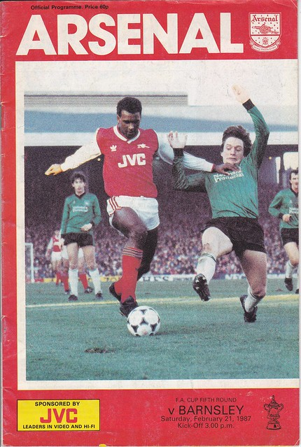 Arsenal V Barnsley 21/2/87 (FA Cup 5th Round)