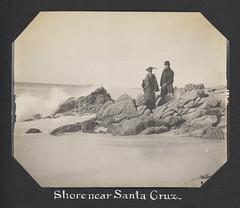 Shore near Santa Cruz. (SMU Central University Libraries) Tags: tourists rockformations coastlines uswest