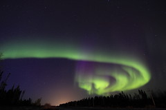 Auroral spiral (She Likes Odd) Tags: auroraborealis aurora northernlights thompson manitoba thompsonmanitoba nightsky canon60d geomagnetic solar wind polarlight lightshow naturallightshow north northof55 55thlatitude night stars starrysky geomagneticstorm magnetosphere solarwind magnetosphericplasma electrons protons photons upperatmosphere solaractivity lightemission excitation ionization precipitatingparticles bands hydrogen oxygen quietarcs activeaurora chargedparticles coronalmassejection sunspotcycle interplanetarymagneticfield auroralzone auroraloval auroralarc magneticmidnight tokina1116mm tokina tokinalens canoneos60d nightphotography canonphotography astrophotography nightshots spaceweather