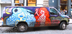 Graffiti Truck. Lower Manhattan.  ABELINCOLNJR. (Allan Ludwig) Tags: lowermanhattan abelincolnjr graffititruck