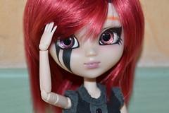 DSC_9099 (DollEmiou) Tags: red eye rouge doll noir full wig demon l pullip custo tatouage obitsu nezumi stica fullcusto pullipstica dollemiou