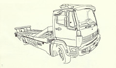 Camion-Depannage (velt.mathieu) Tags: auto truck sketch croquis commercialvehicle