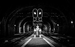 Lit Paths (Zé Castro) Tags: bw portugal station train photography lights nikon traffic porto castro paths josé d800 sbento 1635