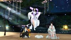Drifting Away from her Parents (BlueLotusOkiya) Tags: secondlife geisha hime kaguya miyakoodori kaguyahime bluelotusokiya