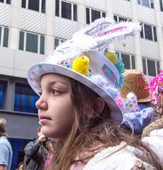 Easter Parade Portraits - 3 (UrbanphotoZ) Tags: nyc newyorkcity ny newyork girl manhattan midtown polkadots chicks rabbitears fifthave easterparade whitehat