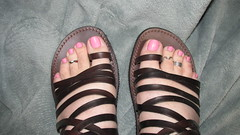 Sally Hansen | Heart of Stone (markrudolph203) Tags: pink color male guy wearing stone toes toe heart roman sandals nail polish dude ring sally rings around hansen toenails toenail varnish enamel toerings wareing