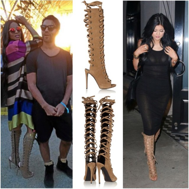 Ballerific Foot Werk: Ciara vs. KYLIE JENNER Wearing Giuseppe Zanotti Textured Suede Knee Boots -posted by @peachkyss Happy Monday! Todays Ballerific Foot Werk is none other than Giuseppe Zanotti Textured Suede Knee Boots. Over the weekend, Ciara was spo