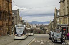 Tram at the historical city (Jethro ~ C.P.C) Tags: old city uk scotland edinburgh tram historical