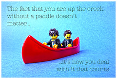 Up the creek without a paddle.... (tim constable) Tags: inspiration danger creek relax boat focus lego quote sticky plan saying calm canoe professional business planning messy shit nervous mission strong mindfulness teaching minifig scared dedicated relaxed situation stress aimless freakout proverb reaction weak caper steady minifigure muddle focussed stressful motivated nodirection withoutapaddle goalorientated castadrift timconstable taskorientated
