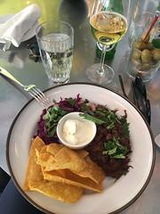 Lunch 7/5 (Atomeyes) Tags: chili chips mat vatten öl smetana majs fänkål rödkål folkbaren