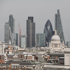 City (Umbreen Hafeez) Tags: city uk light england building london tower st skyline architecture buildings europe cityscape estate cathedral pauls gb gherkin 42 natwest cheesegrater