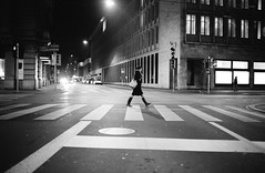 .c  .r  .o  .s  .s  .i  .n  .g (Cem Bayir) Tags: street leica city people blackandwhite bw monochrome night digital 35mm lowlight crossing noiretblanc f14 perspective streetphotography rangefinder zrich capture summilux asph fle zh m240 35mmsummilux vsco leicam240 shootmood