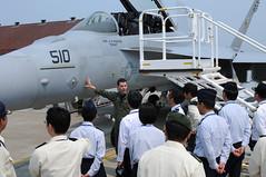 JSDF Staff College Students Visit Misawa Air Base (#PACOM) Tags: japan jp aomori japanselfdefenseforce ea18ggrowler misawaairbase navalairfacilitymisawa uspacificcommand pacom jointstaffcollege electronicattackwarfaresquadron