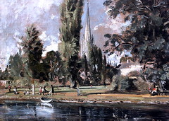 IMG_1560Y John Constable. 1776-1837. Londres. Salisbury Cathedral and Leadenhall for the River Avon. La cathdrale de Salisbury et la rivire Avon. 1820.   Londres National Gallery. (jean louis mazieres) Tags: greatbritain london museum painting unitedkingdom muse nationalgallery londres museo peintures johnconstable grandebretagne