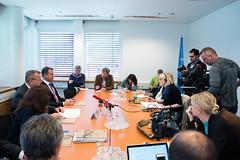 Press Briefing (United Nations Information Service Vienna) Tags: cites unodc viennainternationalcentre johnscanlon yuryfedotov