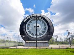 _5132018 (elsuperbob) Tags: monument giant michigan detroit tire ferriswheel americana roadside roadsideamerica worldsfair 1964 motorcity carculture uniroyal allenpark