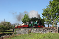 'Linda' Gwindy Bank 14th May 2016 (John Eyres) Tags: leaving for working special linda after heading gauge narrow ffestiniog shortly minffordd dduallt 140516