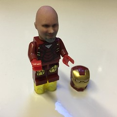Got in this morning and this was on my desk. I am @Lego Iron Man!