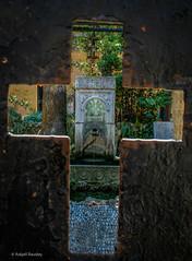 Through the Cross (Askjell's Photo) Tags: foot bath cross islam medieval greece christianity rhodes middleage knightsofstjohn aegeansea knightshospitaller footbaths avenueoftheknights ipotonstreet