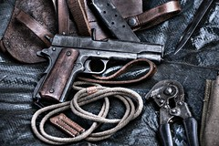M1911 (Steve.T.) Tags: classic leather gun weapon pistol shooter iconic colt firearm lanyard sidearm automaticweapon m1911 coltm1911 automaticpistol militaryshow coltpistol templeatwar taw16 iconicweapon templeatwar2016