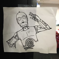 Dec 18, 2015 (mikedemers) Tags: sign star robot starwars drawing daily c3p0 wars android droid c3po
