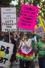 On closets (quinn.anya) Tags: mormon lgbt lds policy churchclothes closet tutu sign prideparade sfpride sfpride2016 pride