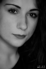 R. (Im-AN) Tags: light portrait blackandwhite woman girl face fashion glamour eyes lips bnw italianwoman