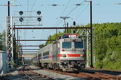 SPAX AEM-7 #2305 @ Oxford Valley, PA (Darryl Rule's Photography) Tags: sun june spring pennsylvania pa passenger septa eastbound passengertrain outbound aem7 townshiplinerd cptl