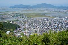 3 (Yorozuna / ) Tags: mountain lake field japan town view   birdseyeview  shiga omihachiman            hachimanyama     nishinoko  pentaxsupertakumar28mmf35 hachimanmountain  nishinokolake lakenhishinoko mthachiman mthachimanyama