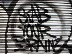 Stab your brains (duncan) Tags: graffiti leakestreet
