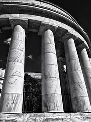 Stone pillars (mswan777) Tags: travel ohio detail building apple up mobile stone memorial president marion round warren tall rotunda harding iphone iphoneography