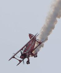 Aerobatics (The Crewe Chronicler) Tags: canon aircraft aviation smoke aeroplane airshow aerobatics pitts airdisplay cosford rafcosford pittsspecial cosfordairshow lserieslens rafcosfordairshow canon7dmarkii