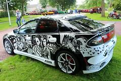 1995 Mazda 323 (Davydutchy) Tags: auto show art classic car design paint voiture special doodle otto vehicle oldtimer frise custom mazda product friesland styling 323 oldtimershow klassiek fryslân frisia rsk stnicolaasga sintnyk stnyk sintnicolaasga rskerssies