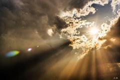 Let there be light... (Stphane Slo) Tags: france clouds landscape soleil agua eau pentax ciel thunderstorm nuages paysage orage ain claircie rayondesoleil et pentaxk3ii